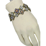 Antique Italian Micro Mosaic Pair of Bracelets  Can Be Connected To Be Worn as Necklace  Exquisite  VERY RARE