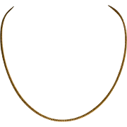 "Antique Victorian 14K Yellow Gold Curb Chain  17"" Necklace  Versatile"