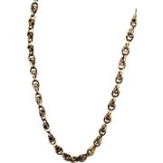 """Antique Victorian Heavy 14K Gold 21"""" Chain Necklace  Gorgeous Ornate Links  RARE"""