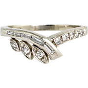 Vintage 14K White Gold Diamond .35 ctw Band Ring  Wedding or Stacking Ring
