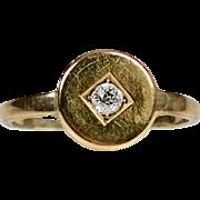 Antique Victorian 14K Gold Diamond Ring   Simple & Elegant