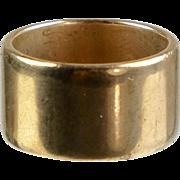 Heavy Wide 14K Rose Gold Wedding Band Ring   Unisex   Vintage