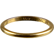 Slim Narrow 14K Rose Gold Wedding Band Ring   Unisex  Vintage  Stacker