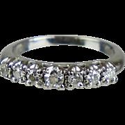 Art Deco Style 14K White Gold Diamond Band Ring    Full of Sparkle