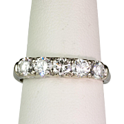 Art Deco Style 14K White Gold Diamond 1.00ctw Band Ring  Very Sparkly & Lovely