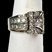 Retro c1940s 14K Rose Gold Diamond Ring    Great on Pinky or Any Finger    Unisex    STUNNING