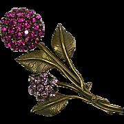 Stunning Rare Vintage Sandor Pin Signed  Flower  Spray  Large
