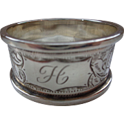 Early English Sterling Napkin Ring 1898
