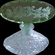 Vintage Czechoslovakian Crystal Perfume Bottle