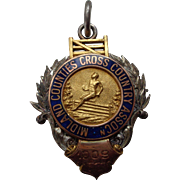 Sterling, 9 Carat Gold, Enamel Medal for Cross Country