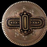 Victorian Gold/Enamel Mourning Pin/Pendant