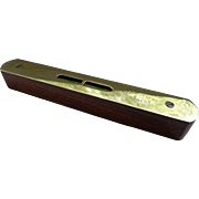 English Brass and Wood Level