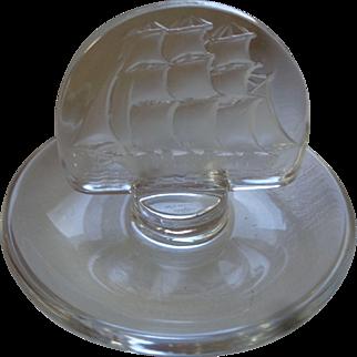 Lalique Clipper Ship Pin Dish