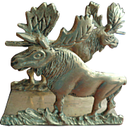 Solid Brass Moose Letter Holder