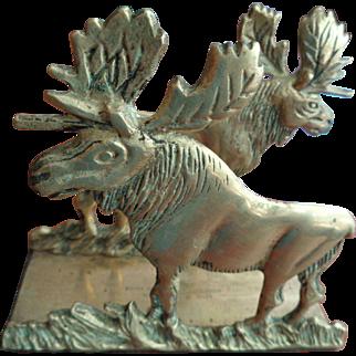 Solid Brass Moose Letter Holder