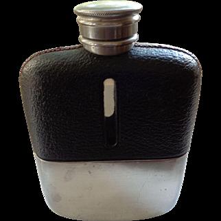 Vintage English Glass/Leather Flask