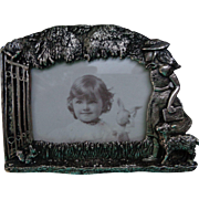 Vintage Silver-Plated Frame 'Mary Had a Little Lamb'