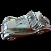 Vintage English Motor Car Model with Clock