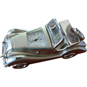 Vintage English Motor Car Model with Clock