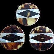 Magnificent Vintage Buttons w/ MOP/Tortoishell Veneer & Bakelite