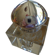 English Sterling & Glass Inkwell Chester 1921