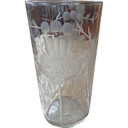 Dorflinger Etched Thistle Glass 1880-1900
