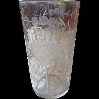 Dorflinger Etched Thistle Glass 1880-1900