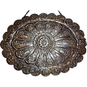 Large Sterling Silver Turkish Mirror