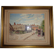 English Watercolor 1930, Signed Artist