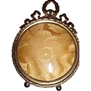 French Gilt Bronze Frame with stand