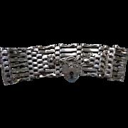 English Sterling Gate Bracelet