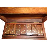 English Mahogany Domino Set