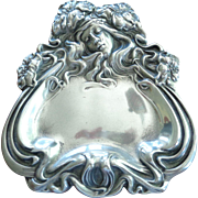 Art Nouveau Pin Dish in Pewter