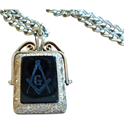 Masonic Two-Sided Fob & Photo Frame w/Chain