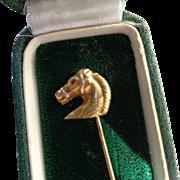 14K Gold Horse Head Stick Pin