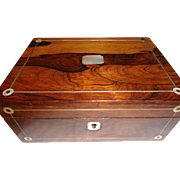 Victorian Rosewood Sewing Box 1860-1880