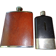 Two English Vintage Flask