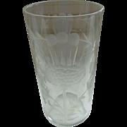 Vintage Dorflinger Thistle Glass 1880