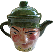 Tiny Two-Faced English Teapot