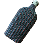 Vintage English Woven Flask 1940's 50's