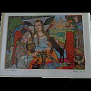 Original Mixed Media Painting - Fairytales by Anna Shakeeva