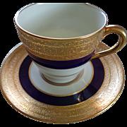 Gilded Royal Doulton Demitasse Cup & Saucer
