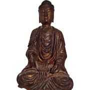 Antique Wooden Buddha, late 18th/early 19th Century