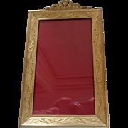 Vintage Gilt Bronze Frame, French