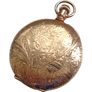 Vintage Ladies Pocket Watch, Hunter Case G.F. 1904