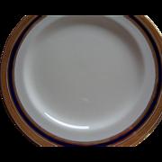 6 Exquisite Royal Cauldon Plates in Gold/Cobalt