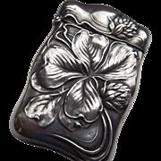 American Art Nouveau Sterling Match Safe (Vesta) 1910