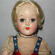 1950's Lovely Platinum Blonde Ideal P-91 Toni Doll in Original Clothes