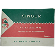 Singer Featherweight Original Booklet for 1964 White/Mint Green Machine