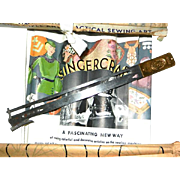 Early 2nd Singercraft Guide with Box, Instructions and Transfers
